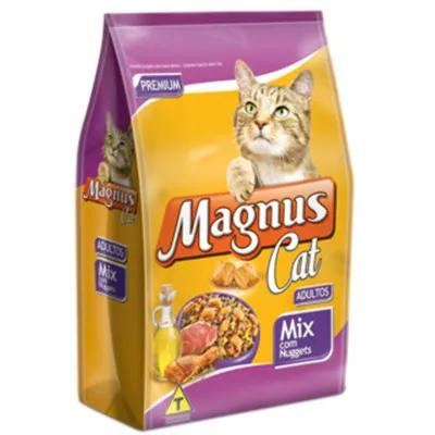 Ração Gatos Magnus Cat Mix Com Nuggets 10,1 Kg