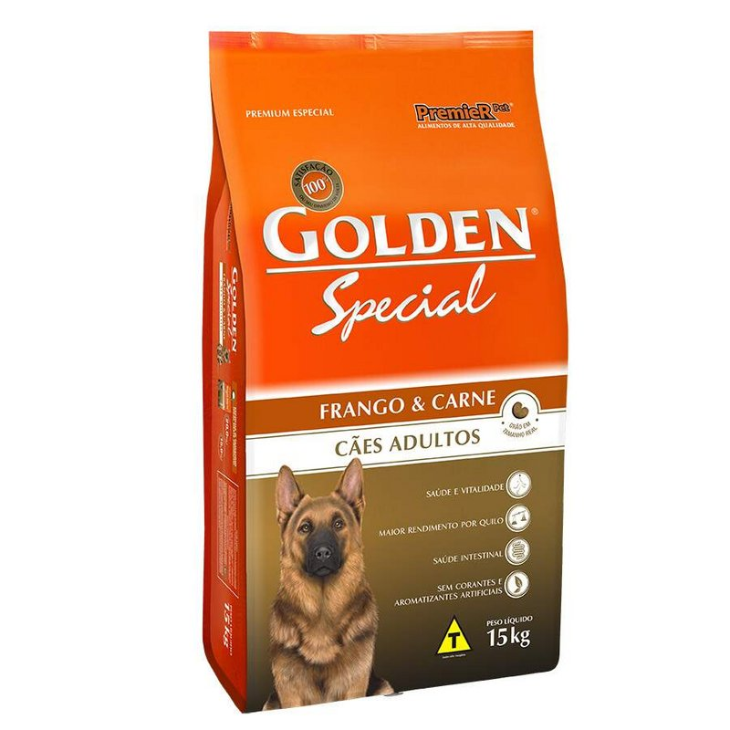 Ração Golden Special Ad. Frango E Carne 15kg