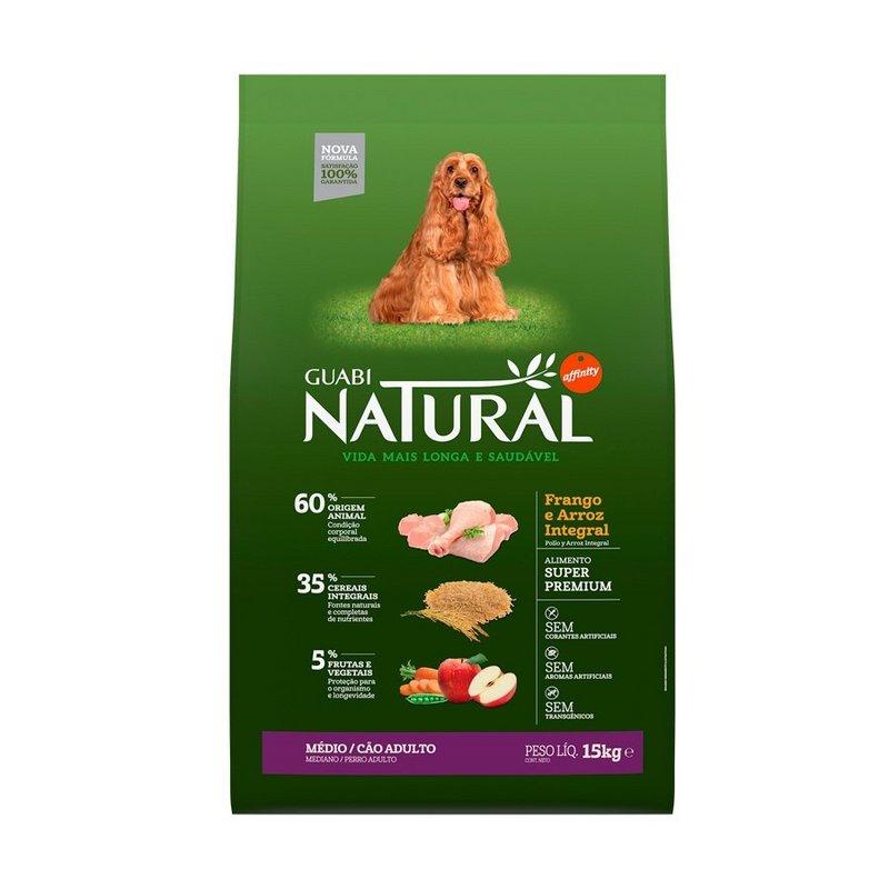 Ração Guabi Natural Cães Adultos Raças Médias Frango 12kg