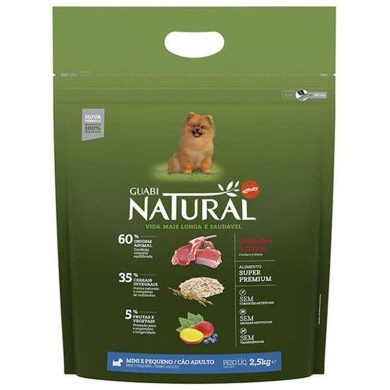 Ração Guabi Natural Cães Adultos Raças Mini Cordeiro 2,5kg