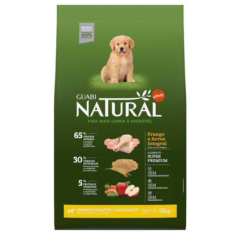 Ração Guabi Natural Cães Filhotes - Grande E Gigante - 12 Kg