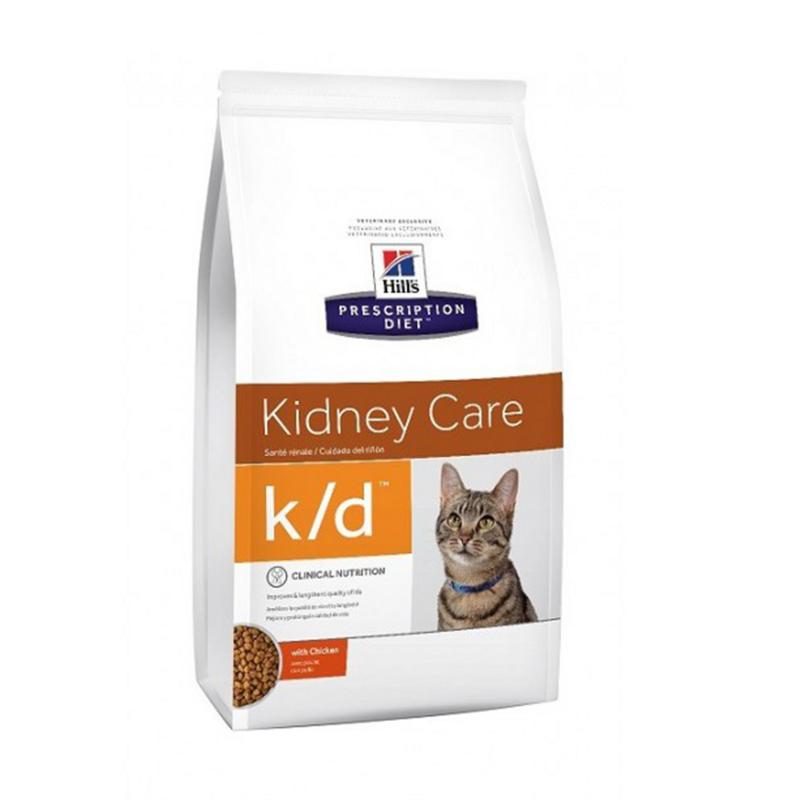 Ração Hills K/d Cuidado Gatos Adultos Doença Renal - 1,8kg