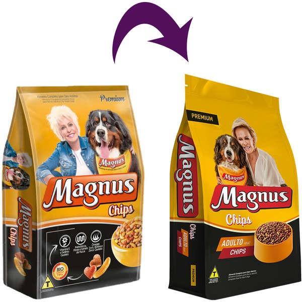 Ração Magnus Cães Adultos Chips - 25kg
