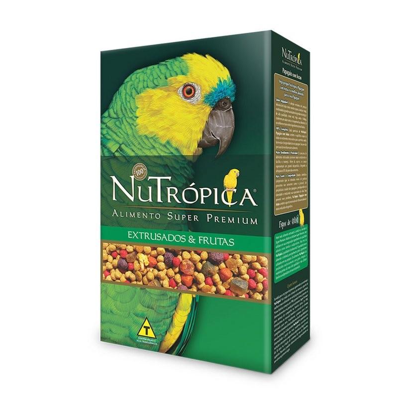 Ração Nutrópica Com Frutas Para Papagaio - 600 G