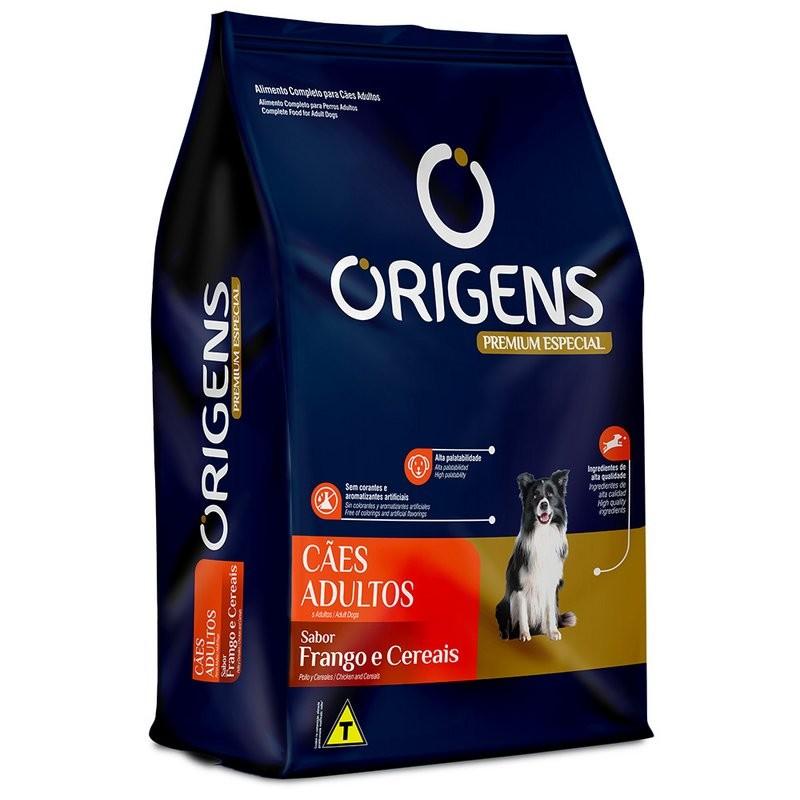 Ração Origens Premium  Frango E Cereais Cães Adultos - 15kg