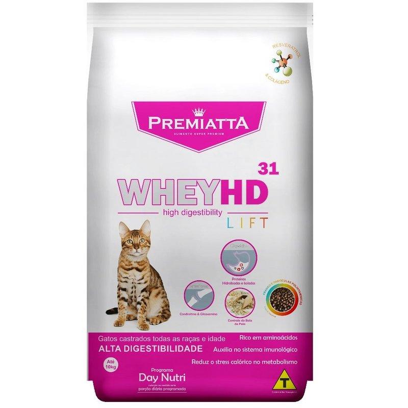 Ração Premiatta Whey Hd 31 Lift Gatos Castrados - 1kg