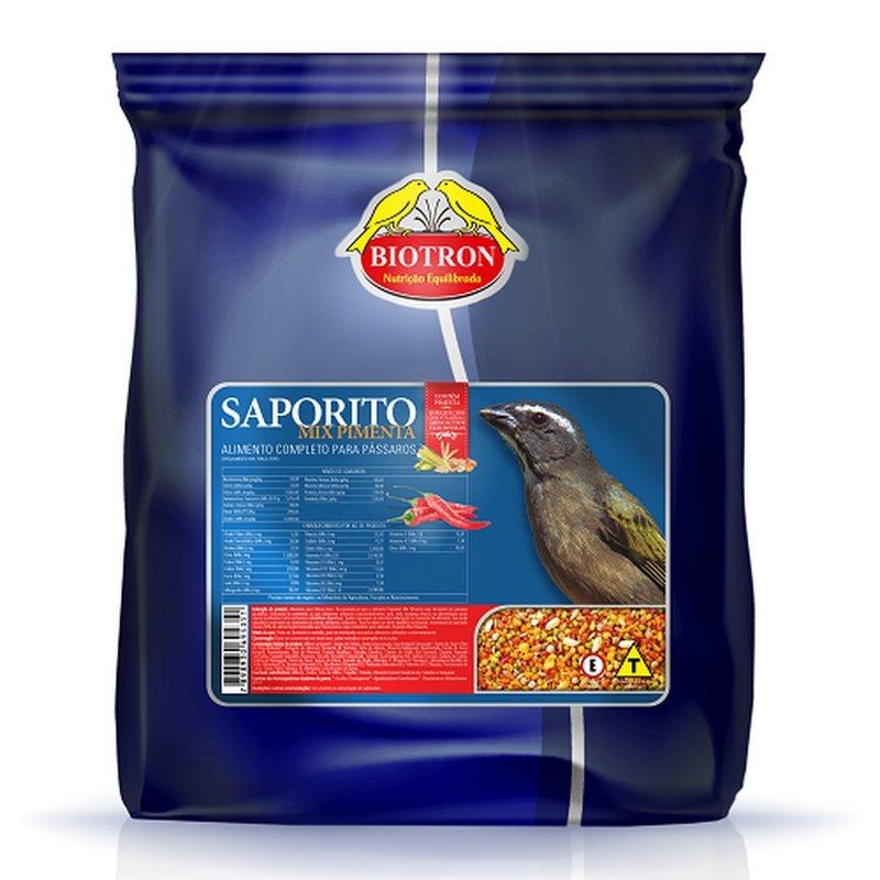 Ração Saporito Mix Pimenta 500g - Alimento Para Pássaros