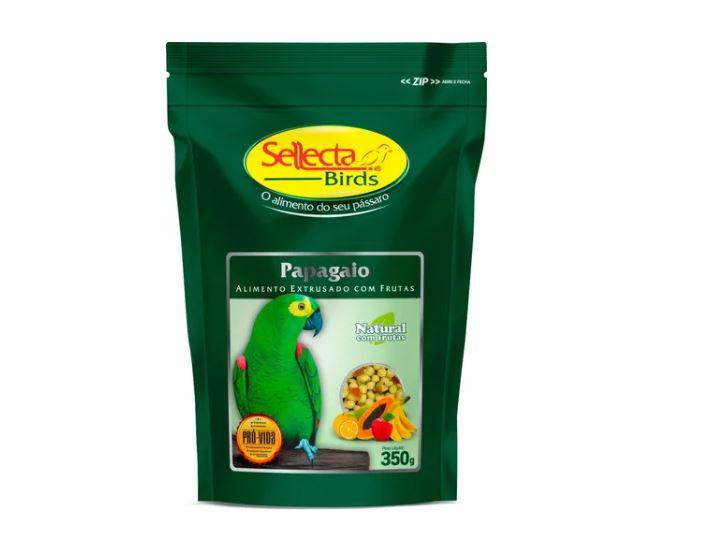 Ração Sellecta Extrusada Papagaio Com Frutas - 350g