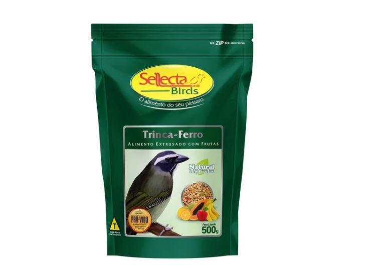 Ração Sellecta Natural Com Frutas Trinca Ferro - 500g