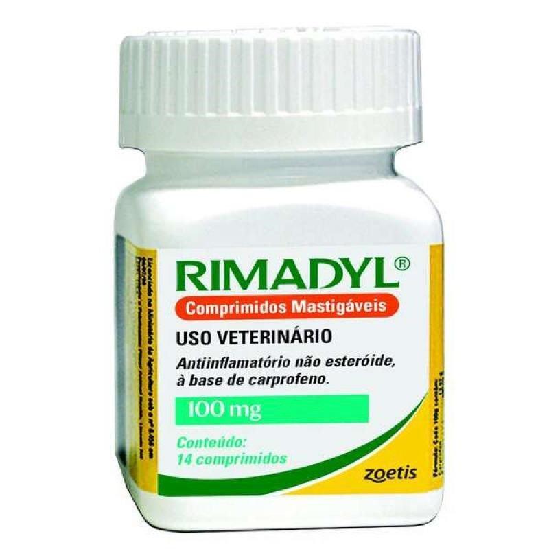 Rimadyl 100 Mg 14 Comprimidos Zoetis Carprofeno Inflamatório
