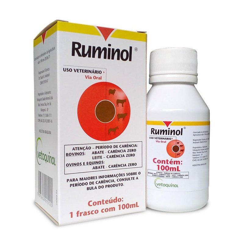 Ruminol Oral P/ Animais 100ml Vetoquinol