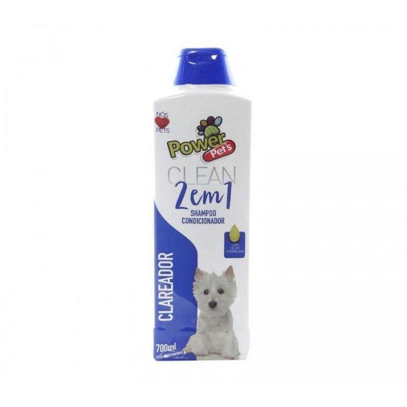 Shampoo Clareador 2 Em 1 Power Pets - 700ml