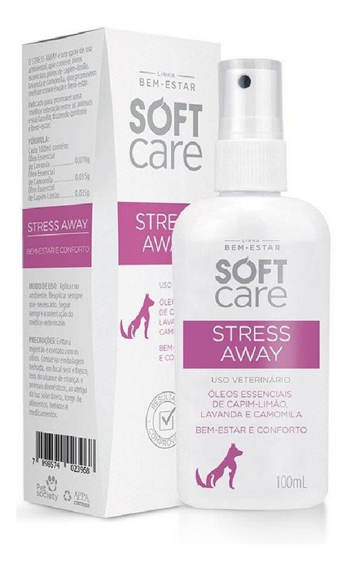 Spray Relaxante Pet Society Stress Away - 100 Ml
