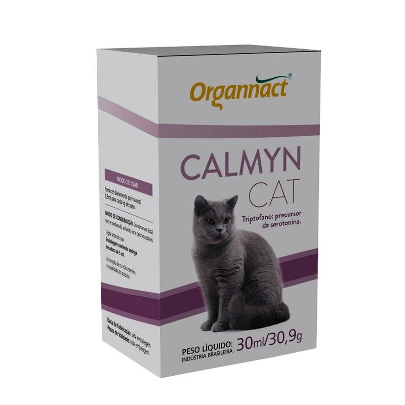 Suplemento Alimentar Organnact Calmyn Cat Calmante - 30ml