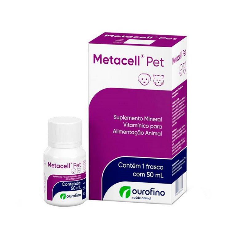 Suplemento Vitamínico Metacell Pet Ourofino 50ml