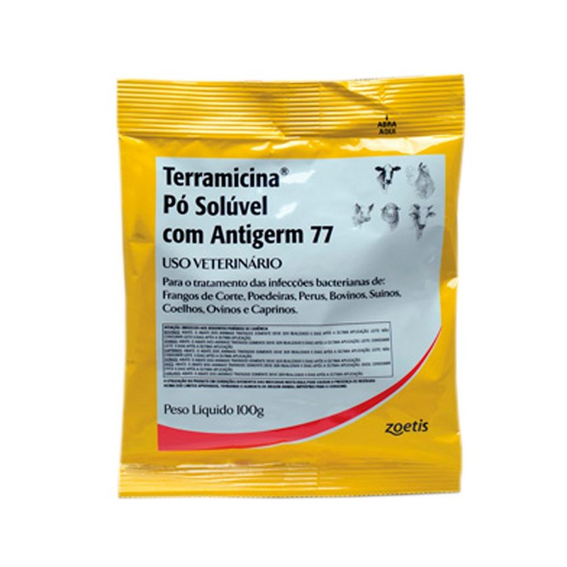 Terramicina 100g Pó Solúvel - Pfizer - C/ Antigerm 77