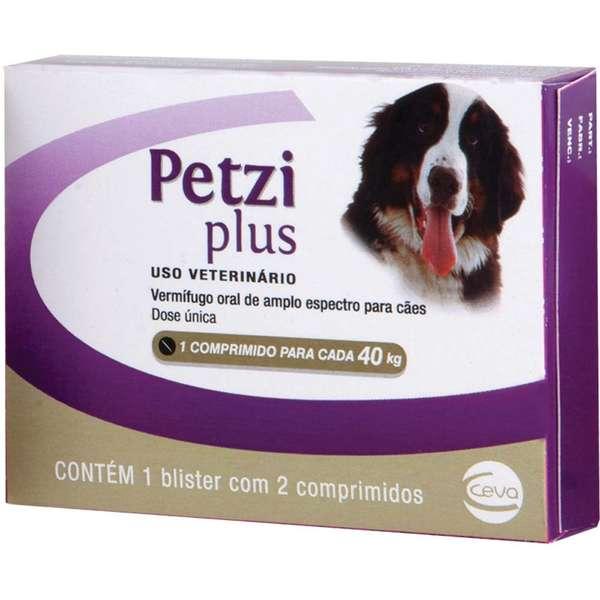 Vermífugo Petzi Plus - 2 Comprimidos - 40kg