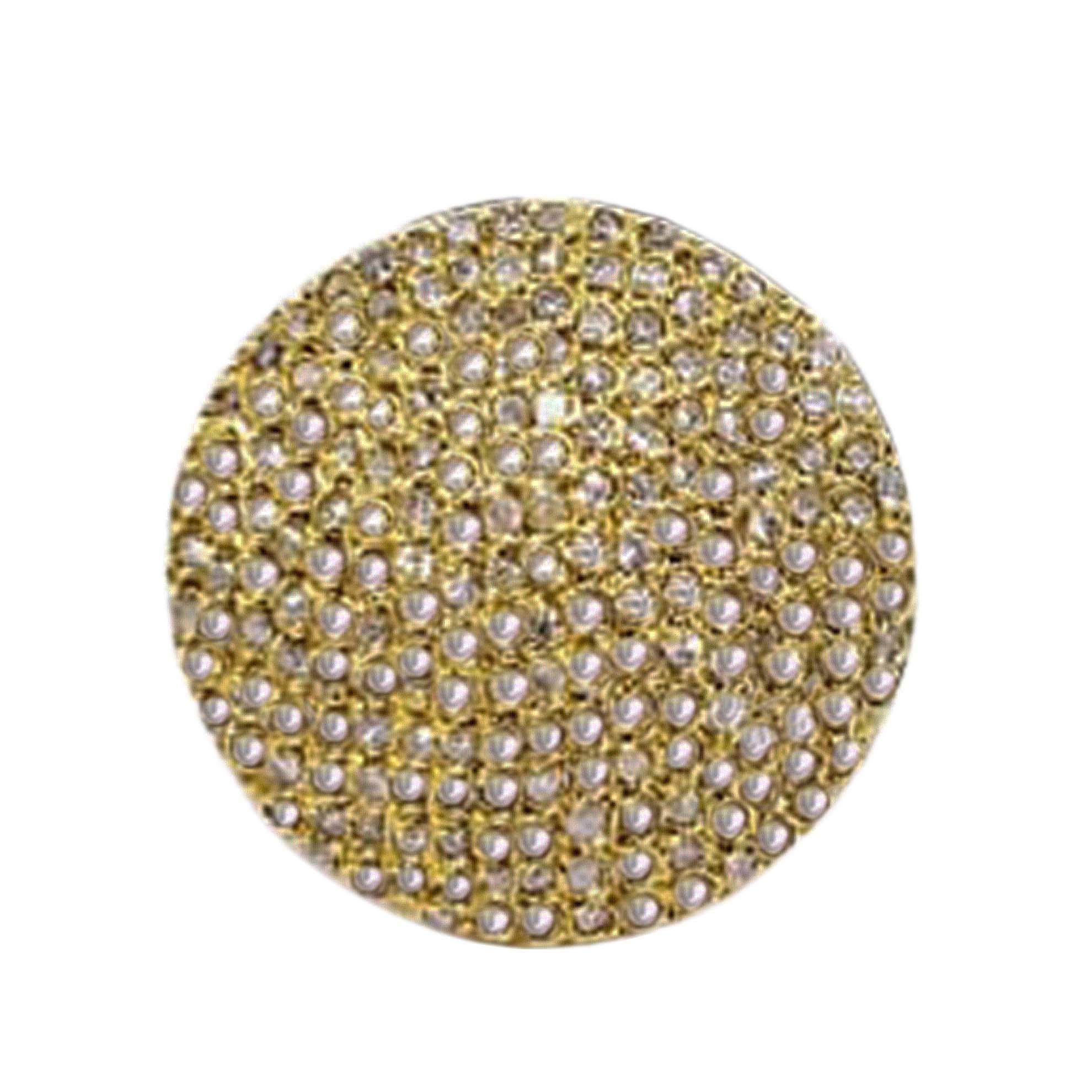 Anel Redondo Cravejado de Diamantes em Ouro 18 Kilates