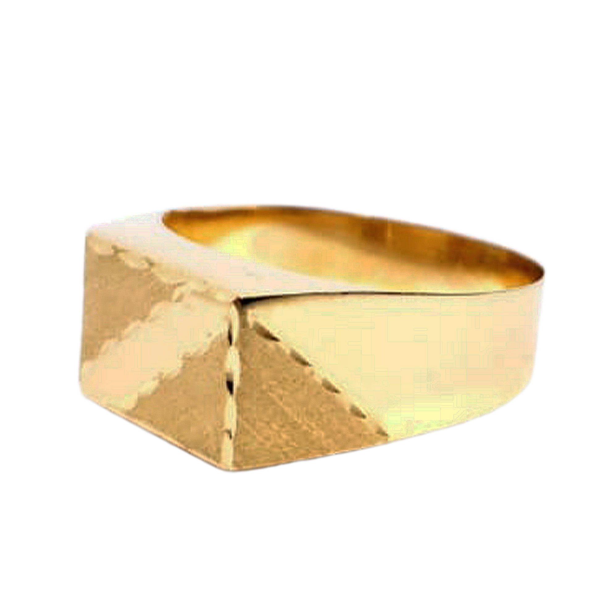 Anel Retângulo em Ouro 18 Kilates