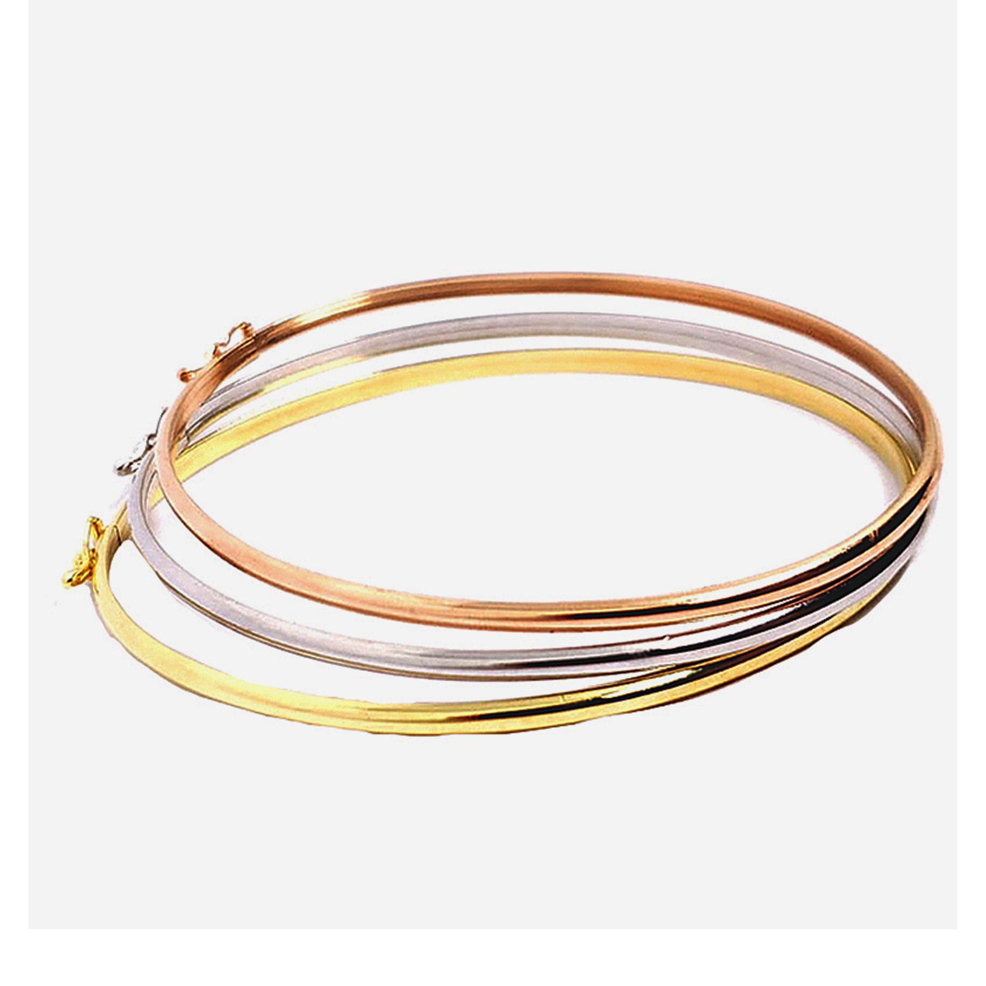Bracelete Oval em Ouro Amarelo 18 Kilates