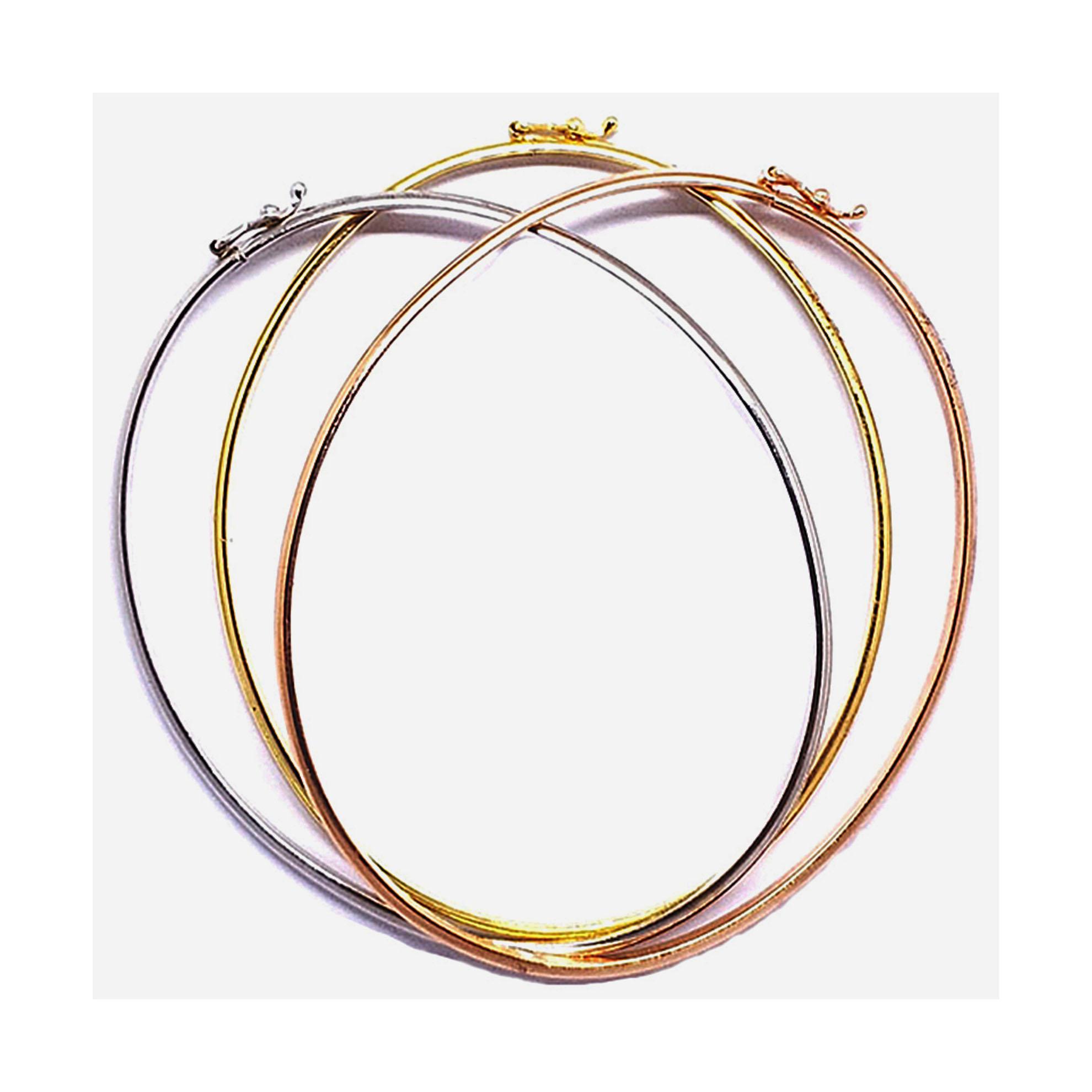 Bracelete Oval em Ouro Branco 18 Kilates