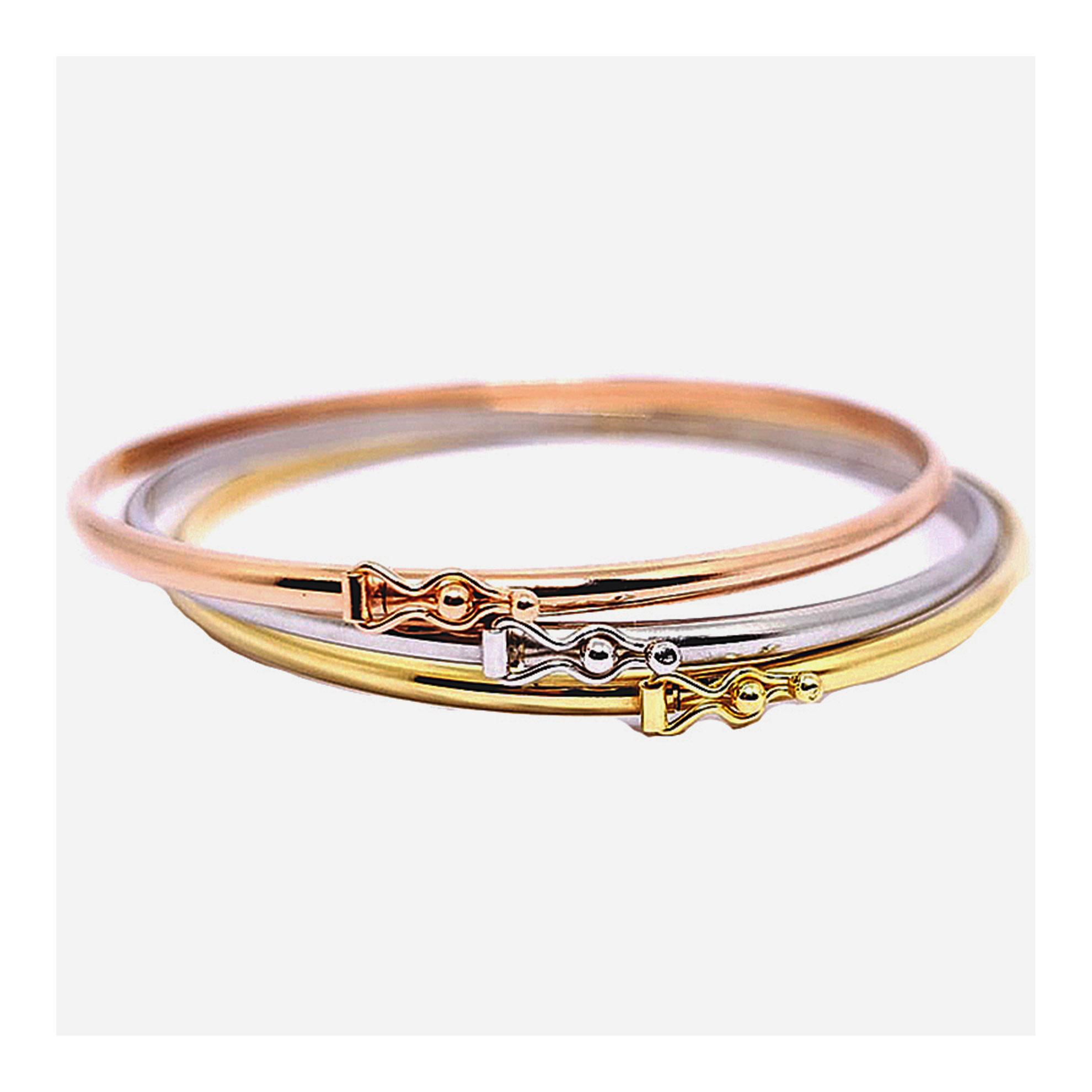 Bracelete Oval em Ouro Rosê 18 Kilates