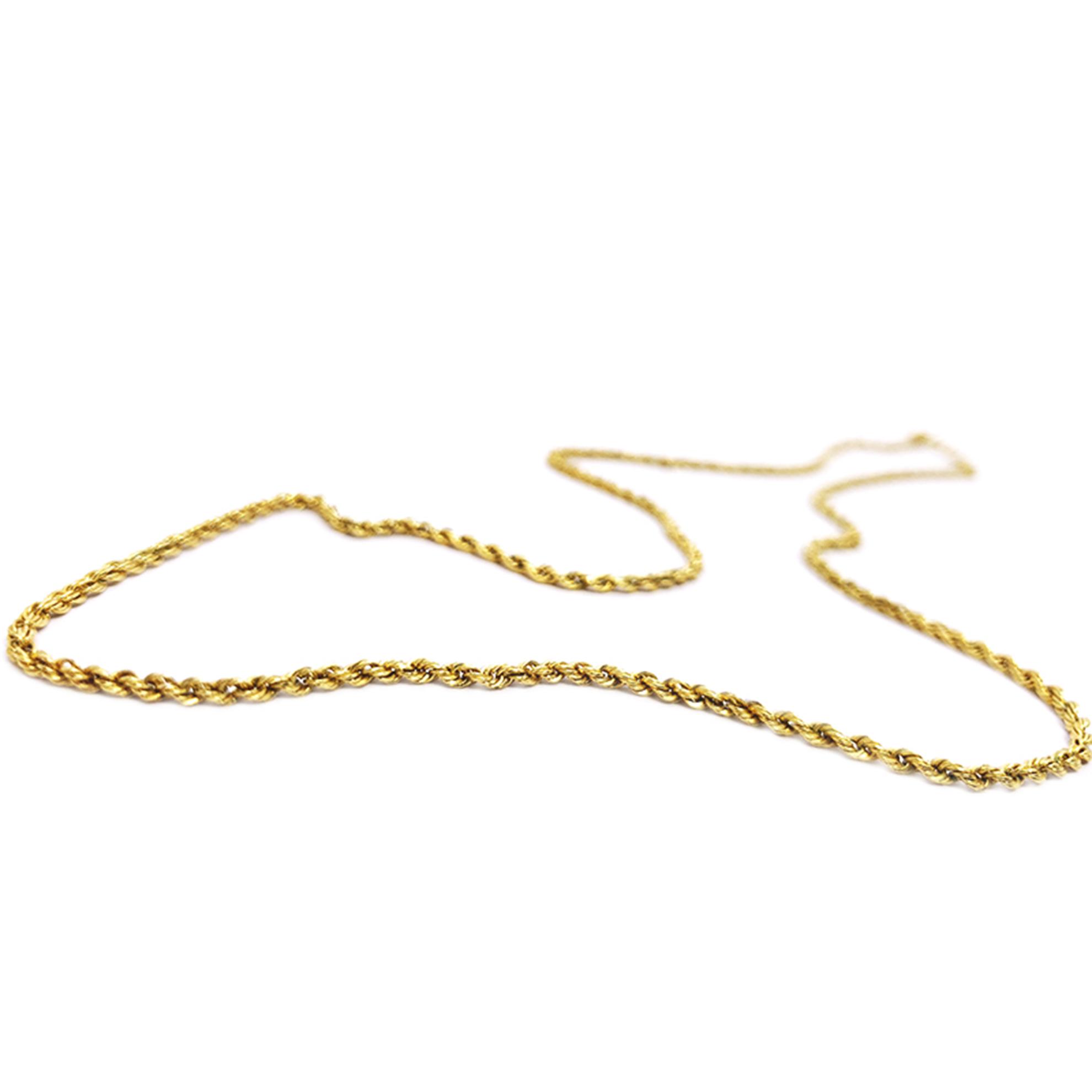 Gargantilha Cabo de Aço em Ouro 18 Kilates