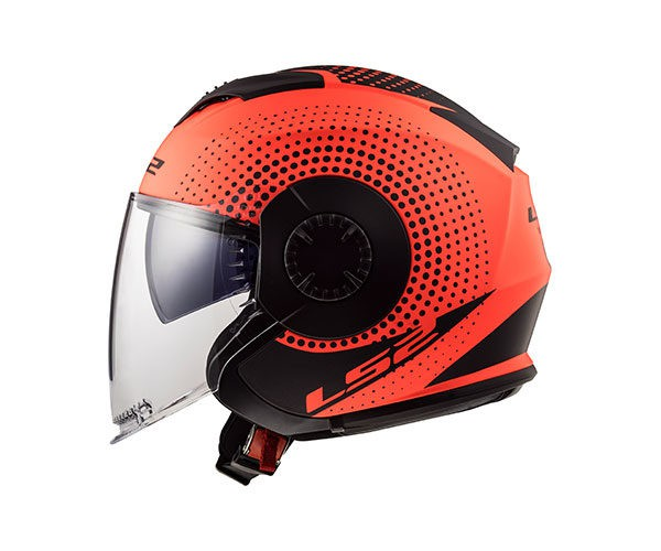 CAPACETE LS2 VERSO OF570 SPIN MATTE FLUO ORG/BLACK