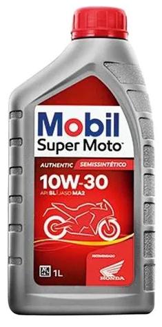 ÓLEO MOBIL 10W30 SUPER MOTO MX SEMI SINTETICO 1L