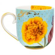 Caneca 325ml Flowers Royal Pip Studio