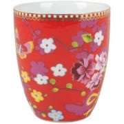 Caneca s/ Alça Chinese Rosa Floral Pip Studio