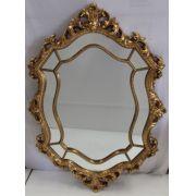 Espelho Poliresina Dourado - Cód.: FRM144