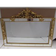 Espelho Poliresina Dourado - Cód.:  FRM154