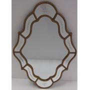 Espelho Poliresina Dourado - Cód.: FRM158