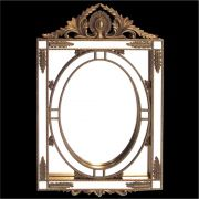 Espelho Poliresina Dourado - Cód.: FRM79