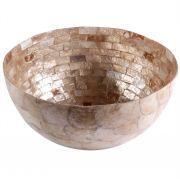 Fruteira de Madrepérola Mosaico Âmbar 40cm - Cód. 332