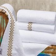 Jogo de Banho Sharon Branco Gigante - 5 peças - Cód BER21082/08