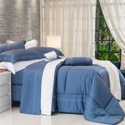 Kit Capa de Edredom Myriad Azul King - 3 Peças - Cód 8701