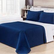 Kit Cobre Leito Prátic Azul Marinho Queen - Cód 10495
