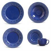 Madeleine Azul Navy - Aparelho de Jantar 30 Peças (6 Pessoas)