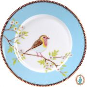 Prato Sobremesa Early Bird Azul Floral Pip Studio
