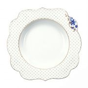 Prato de Sopa Flowers - Royal White