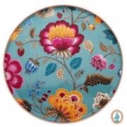 Prato para Bolo Azul - Floral Fantasy