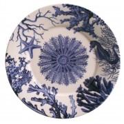 Prato Raso Coral Blue 27cm (6 Unidades)