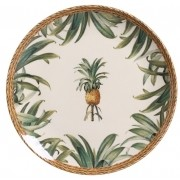 Prato Raso Pineapple Natural 27cm (6 Unidades)