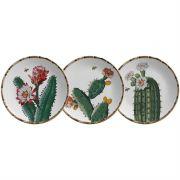 Prato Sobremesa Bambu Cactus (6 Unidades)