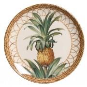 Prato Sobremesa Pineapple Natural 20,5cm (6 Unidades)