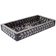 Travessa Osso Bone Tray Black White - Cód 1625