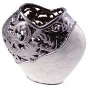 Vaso Decorativo de Madrepérola e Metal 31cm - Cód. 1970