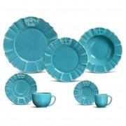 Windsor Azul - Aparelho De Jantar 42 Peças (6 Pessoas)